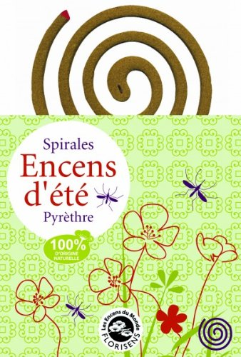 Encens du Monde - Spirale di incenso anti-zanzare, da giardino