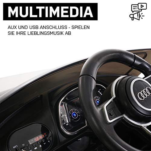 RC Auto kaufen Kinderauto Bild 2: Kinder Elektroauto Audi R8 Spyder Modell 2017 NEU Lizenziert Original Kinderelektroauto Kinderfahrzeug Auto (Schwarz)*
