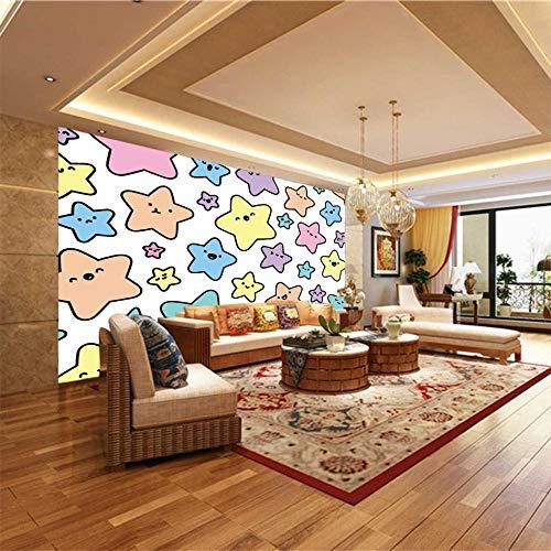 FTCAKET Murales Da Parete Grandi Colore arte stella a cinque punte 3D Adesivi Murali Eleganti Arti Decorative Per Soggiorno Camera Da Letto Specchio 250x200cm(98x78 inch)