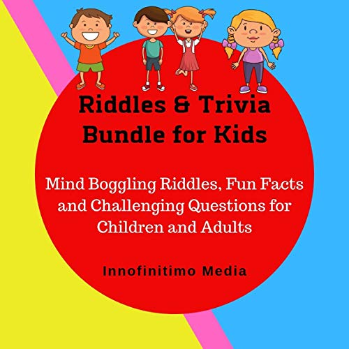 Couverture de Riddles & Trivia Bundle for Kids: Mind Boggling Riddles, Fun Facts, and Challenging Questions for Children and Adults