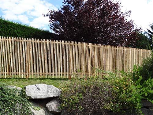 Gartenwelt Riegelsberger Premium Stakethek, complete set van kastanje, kastanjehek, rol hek, houten hek, lattenhek, lattenafstand, 4-6 cm, heklengte 2,5 m hoogte 150 cm Höhe 175 cm | Länge 2,5 m Zonder palen, zonder poort.