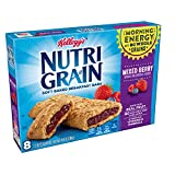 Kellogg's Nutri-Grain, Soft Baked Breakfast Bars, Mixed Berry, Made with Whole Grain, 10.4 oz (8 Count)
