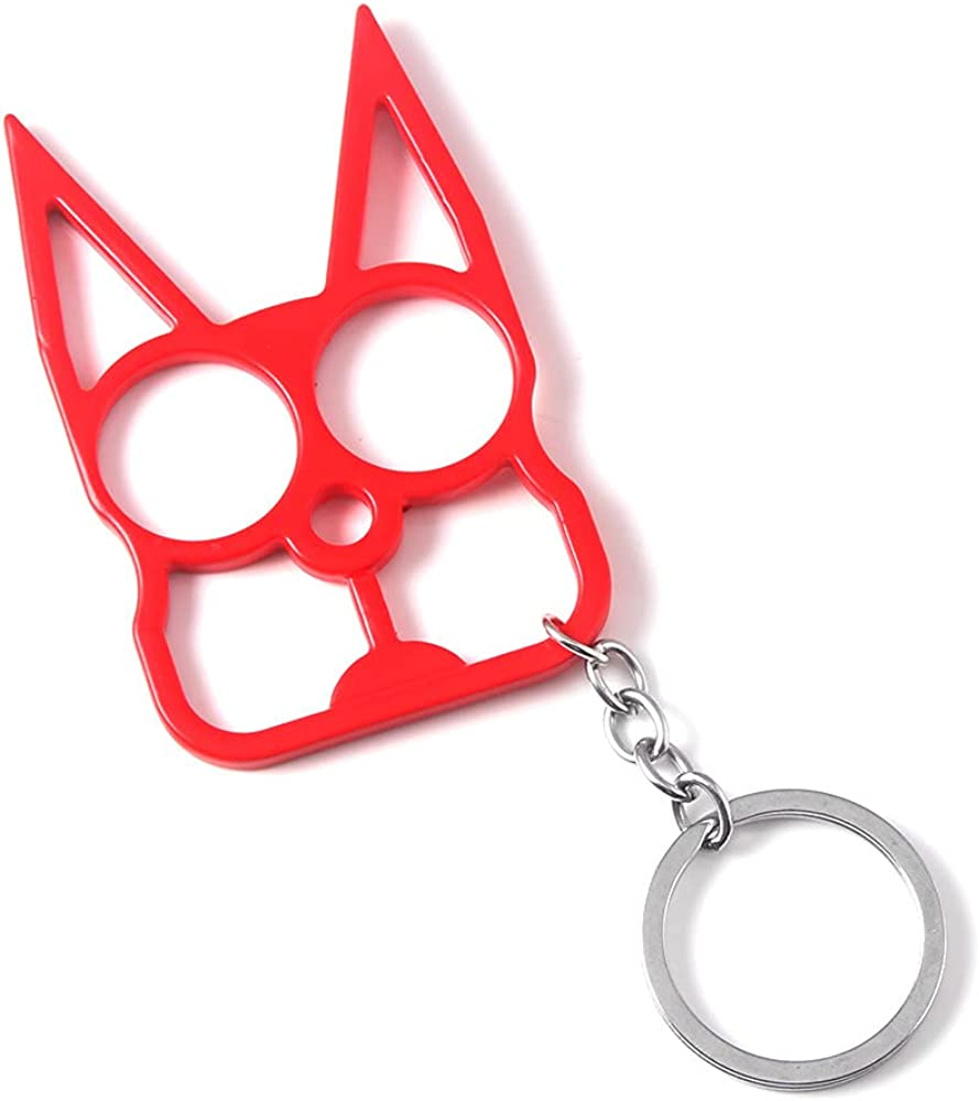 Men's Keychain Creative Metal Cat Shape Emergency Broken Window Keyring For Men Tool