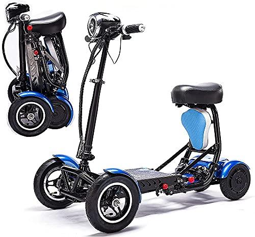 Patinete eléctrico plegable para adultos, Sillas de ruedas móviles eléctricas y ligeras,...