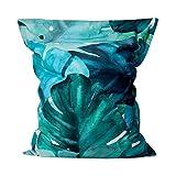 Lumaland Luxury Riesensitzsack XXL Sitzsack 380l Füllung 140 x 180 cm Indoor - Indoor Outdoor Material - Special Edition Botanical