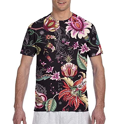 Kteubro Camiseta deportiva de fantasía tropical para hombre, camisas para hombre con ajuste clásico