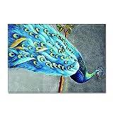DRTWE Alfombra,Teppich,Large Size Fluffy Velvet Area Rug Living Room Pretty Phoenix Pattern Anti-Skid Soft Cozy Shaggy Rug Nursery Floor Carpet Play Mat For Bedroom Hallway Carpet Runner,120 * 160
