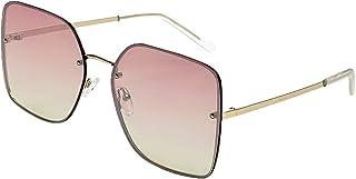 Otra Eyewear Women's Goldi Oversized Square Frame Sungl(Pink, 2.5)