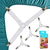Felly Bed Sheet Clips 4 Pack Triangle Bed Sheet Straps Fasteners Set 3