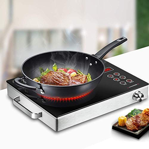 DROZIP Smart Touch Sensor Electric Ceramic Cooker Glass Plate Cooktop for Stainless Steel All...