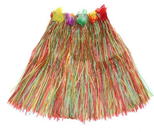 1 pieza de falda hawaiana de hierba de hula disfraz de disfraz de flores guirnalda nia mujeres hawaiana playa verano tropical luau fiesta de cumpleaos suministros