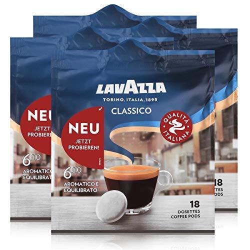 Lavazza Kaffeepads Classico 18 Pads - Für Kaffee-Padmaschinen 125g (4er Pack)