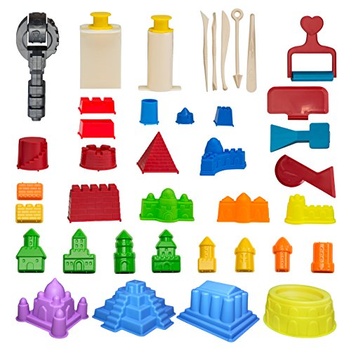 CoolSand Advanced Building Sand Molds amp Tools Kit  Works with All Other Play Sand Brands  37Piece Includes: Castle Bricks amp Walls Molds amp Tools  Sand Not Included