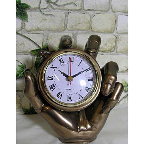 GR Bronze-farbene Kaminuhr Hand 18cm Stoppuhr Taschenuhr Uhr Tischuhr Oliver Tupton