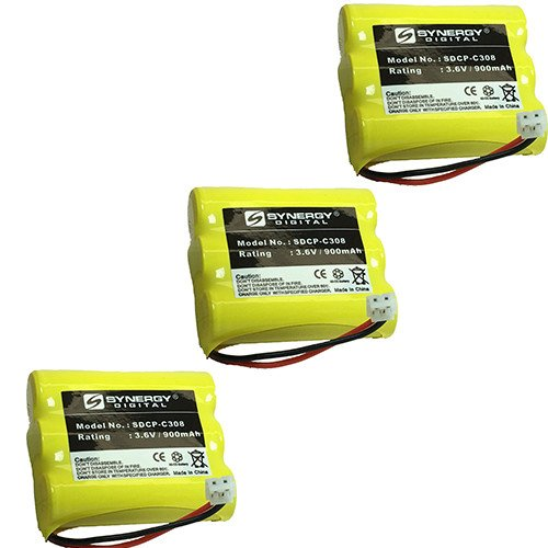AT-T/Lucent 3301 Cordless Phone Battery Combo-Pack Includes: 3 x SDCP-C308 Batteries
