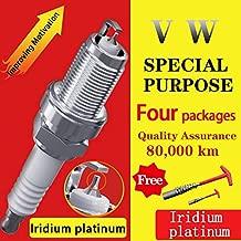 4Pcs/ Suitable For Volkswagen Combi Vr6 Touareg Multivan Golf Gti Iridium Platinum Spark Plugs