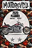 Motorcycle 2020 Planner Weekly Monthly: Old School Harley Davidson Vrod on the go organizer 6 x 9 inches Matte Cover (Jan 1, 2020 to Dec 31, 2020)
