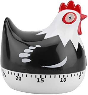 Chicken Cartoon Kitchen Timer Cooking Timer Cute Timer Reminder Countdown Baking Timer for Cooking Baking(Black)