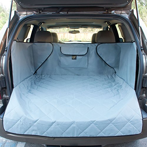 FrontPet Extra Wide Quilted Dog Cargo Cover for SUV Universal Fit for Any Animal. Durable Liner Covers and Protects Your Vehicle, Extended Width, Grey
