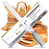 Orblue Serrated Bread Knife Ultra-Sharp Stainless Steel Professional Grade Bread Cutter - Cuts Thick Loaves...