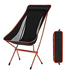 Domary Outdoor Folding Camping Chairs Portable Moon Leisure Chair Beach Chairs