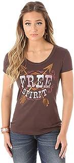 Wrangler Women's Short Sleeve Crew Neck Free Spirit T-Shirt