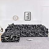Fundas de sofá Chaise Longue para Sala de Estar, Funda elástica para sofá, Funda elástica en Forma de L, Funda para sofá de Esquina A23, 1 Plaza