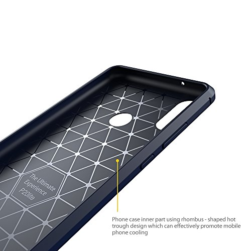 Elekin Hülle Kompatibel für Huawei P20 Lite, Handyhülle Kompatibel für P20 Lite Case Cover - Blau - 2