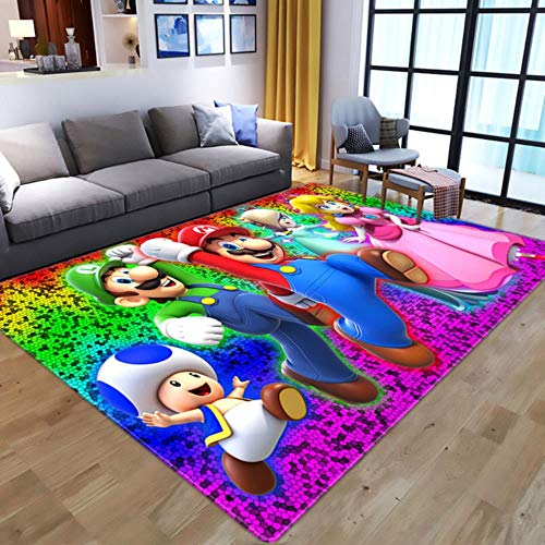 Cartoon 3D Anime Super Mario pattern Carpets for Living Room Bedroom Large Area Carpet Kids play Floor Mat Child Game Area Rugs-11,50x80cm