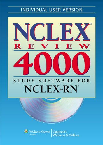 NCLEX Review 4000 Study Software for NCLEX-RN -Individual User Edition