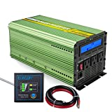 Edecoa 2000W Power Inverter 12V DC to 110V AC Power Converter with Remote Controller
