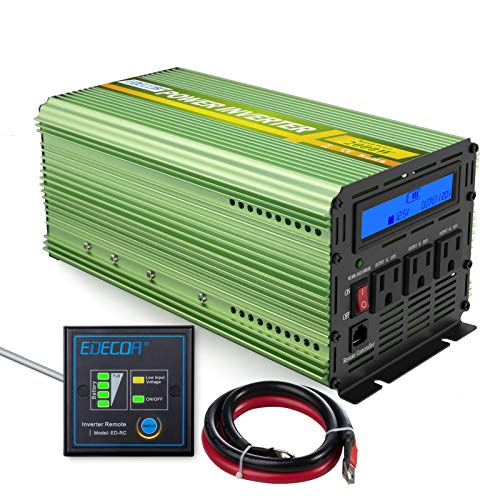 Edecoa 2000W Power Inverter 12V DC to 110V AC Power Converter with Remote Controller