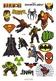 Avastore - Tatuaggio temporaneo, motivo: supereroi Marvel, blister con 20 tatuaggi temporanei