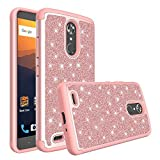Spritech ZTE Max XL Case,ZTE N9560 Case for Girls Women, Luxury Glitter Cute Design [PC Silicone Leather] Dual Layer Protective Phone Case Cover for ZTE Max XL / N9560