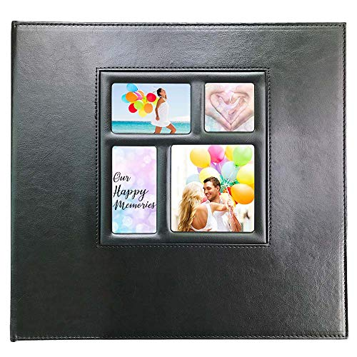 Photo Album 4x6 610 Photos, Pages Expandable, Premium Leather Cover Large Photo Album Holds 610 Vertical and Horizontal Photos for Baby Family Wedding, Black