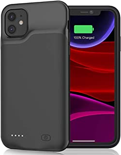 Battery Case for iPhone 11, 6000mAh Portable Rechargeable Battery Pack Charging Case Compatible with iPhone 11 (6.1 inch) Extended Battery Charger Case (Black)