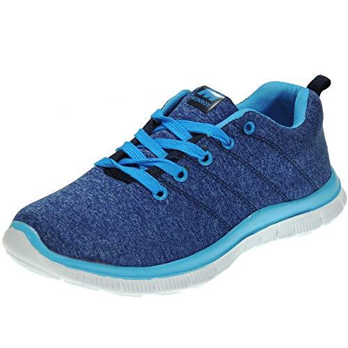 MONROY DT10172/2 Zapatilla Deportiva Importación Sneaker Ligera Piso Eva Cordones para Mujer