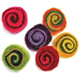 DIMENSIONS Needlecraft Felt Embellishments, Multi Color Spirals