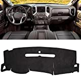 SHINEHOME Dashboard Cover Mat Carpet - Compatible with 2007-2013 Chevrolet Silverado GMC Sierra
