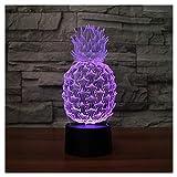 lunaoo Nachtlicht Kinder Nachttischlampe LED 3D Lampe, Stimmungslicht 7 Farben ändern...