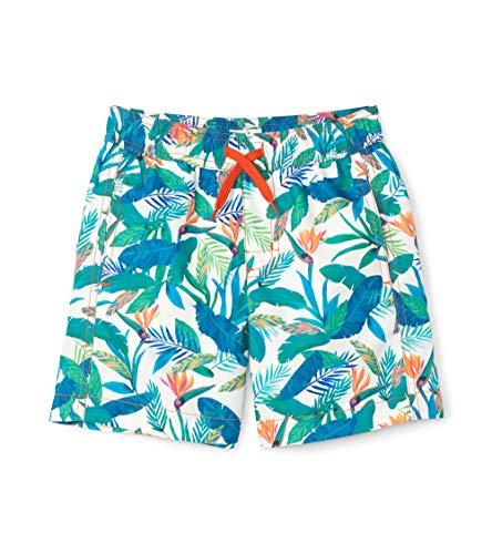 Hatley Jungen Swim Trunks Badehose, Weiß (Tropical Paradise 100), 6 Jahre