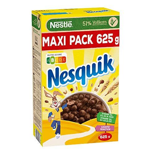 Nestlé Nesquik Knusper-Frühstück, Schoko Cerealien mit Vollkorn, 1er Maxipack (1 x 625g)