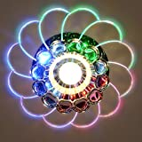 Ocamo LED Ceiling Lamp Modern Colorful 5W Crystal Chandelierfor Hallway, Bedroom, Kitchen Decor