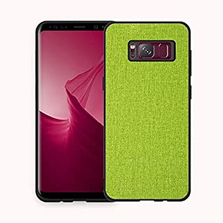 Protective Case Compatible with Samsung Samsung Galaxy S8+ Case, Fabric Cloth Style 2 in 1 Soft Side All Inclusive Protective Cover Phone Back Case Phone case (Color : Green)