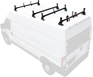 Aluminum H1 4 Bar Van Rack System for RAM ProMaster 2013-On Black