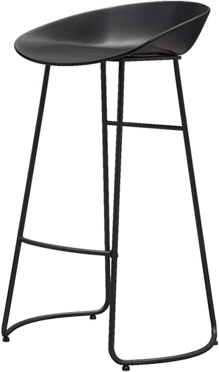 Bar Stools Bar Chairs Breakfast Dining Stools for Kitchen Island Counter Bar Stools Loading 200KG PP Material Sitting Surface Black Metal Legs