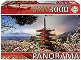 Educa- Serie Panorama Puzzle 3.000 piezas Monte Fuji y Pagoda Chiureito Japon (18013)