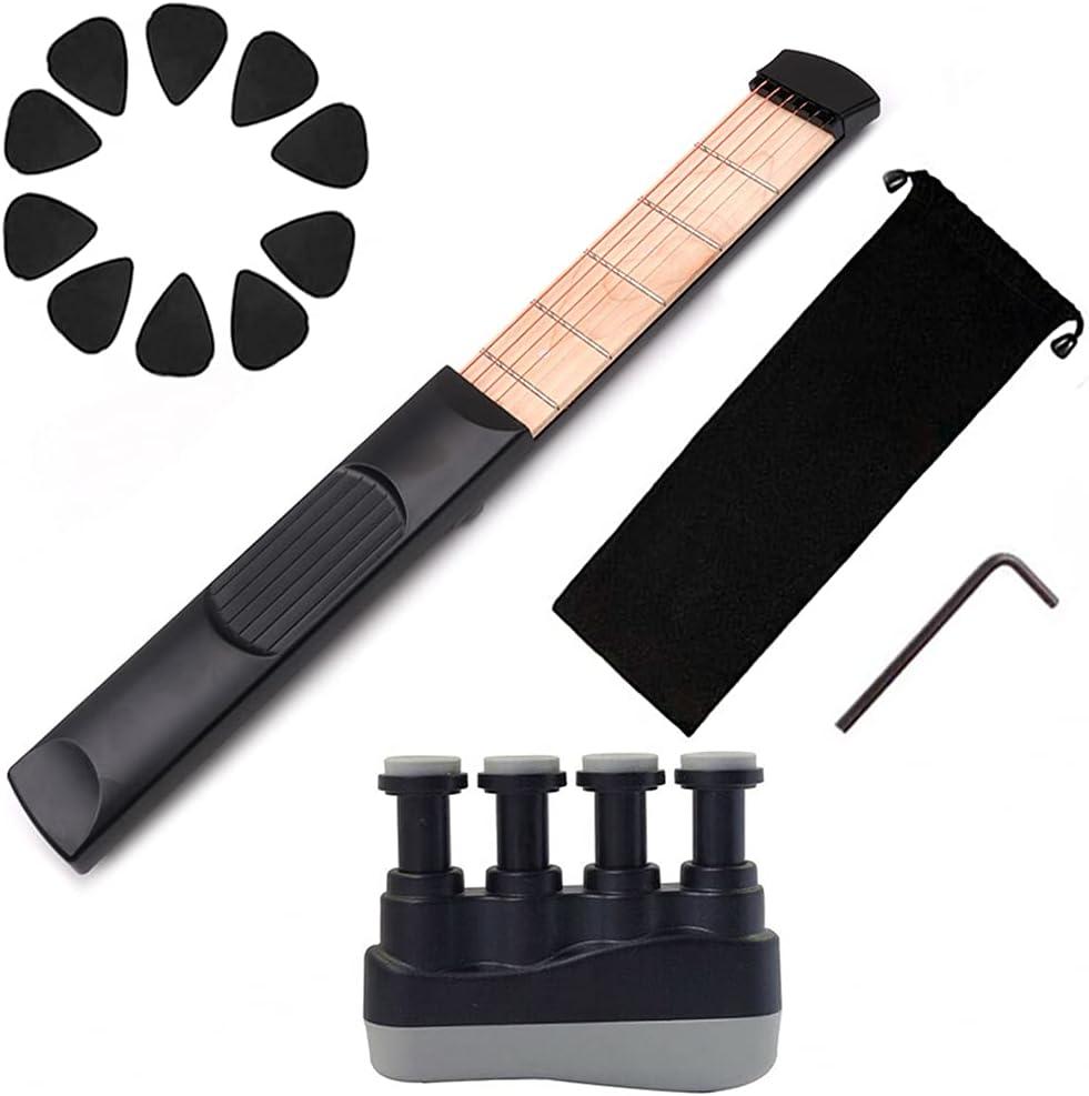 JIUYECAO Juego de entrenamiento de bolsillo para piano, herramienta de práctica de acorde de de guitarra de bolsillo, para principiantes y principiantes