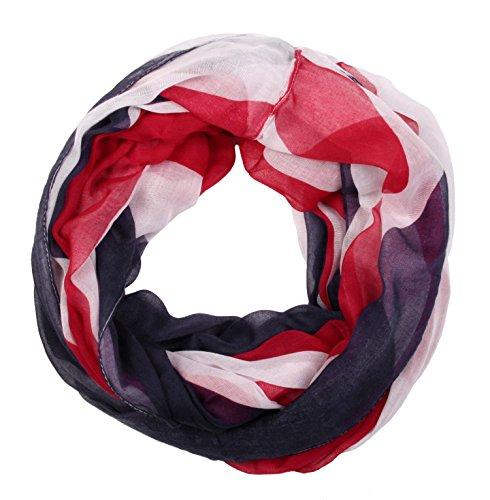 styleBREAKER Leichter Union Jack Schal/englische Flaggen Design (XL/Schal)
