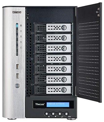 Thecus N7710 NAS-Server (7-Bay, Gigabit Ethernet, HDMI, VGA, 2X USB 3.0, 6X USB 2.0, SATA) schwarz